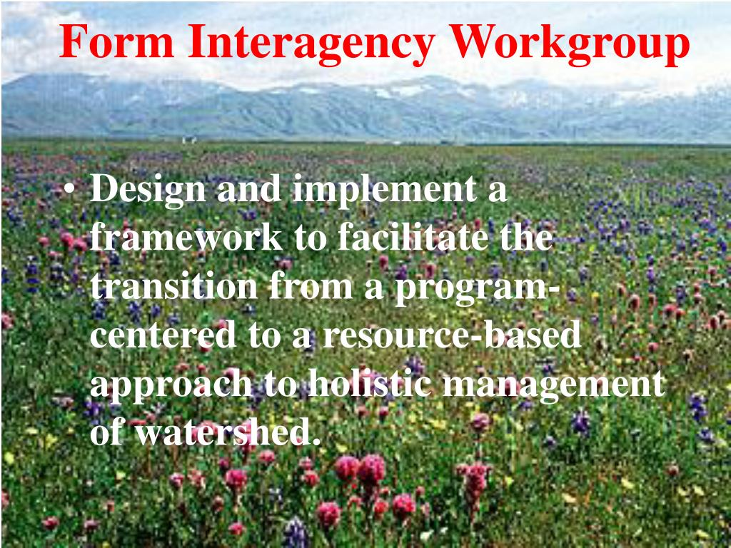 Form Interagency Workgroup