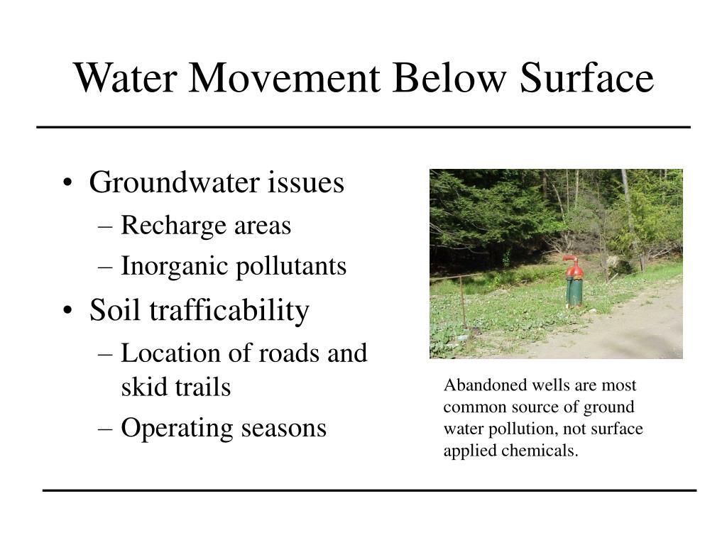 Water Movement Below Surface