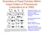 diversities of fossil families within insect orders of phanerozoic labandeira et al 1993