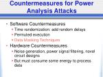 countermeasures for power analysis attacks