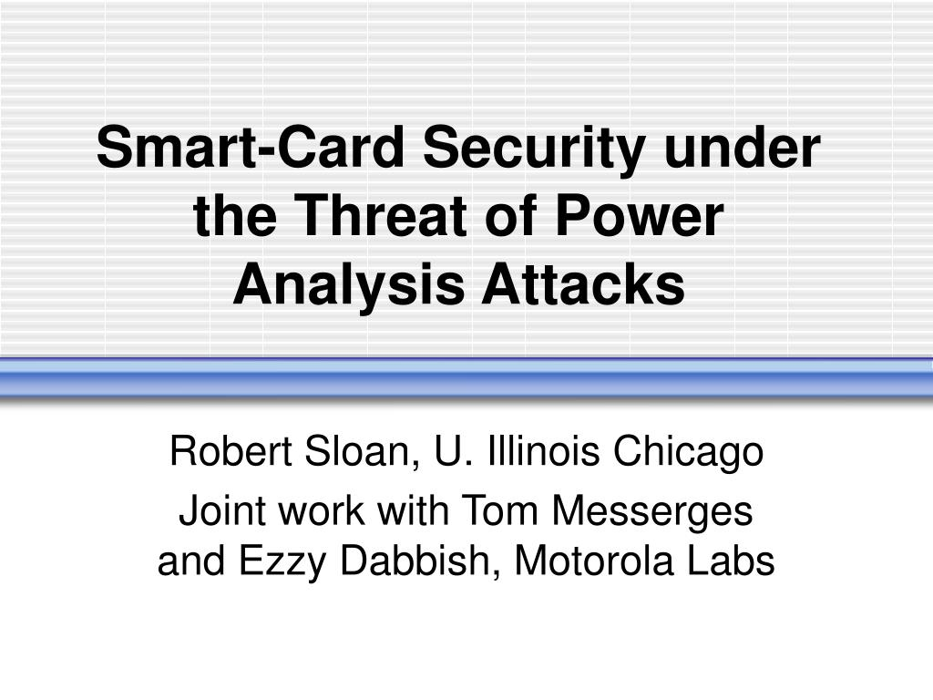 smart card security under the threat of power analysis attacks l.