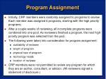 program assignment