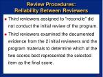 review procedures reliability between reviewers43