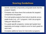 scoring guidelines
