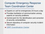 computer emergency response team coordination center