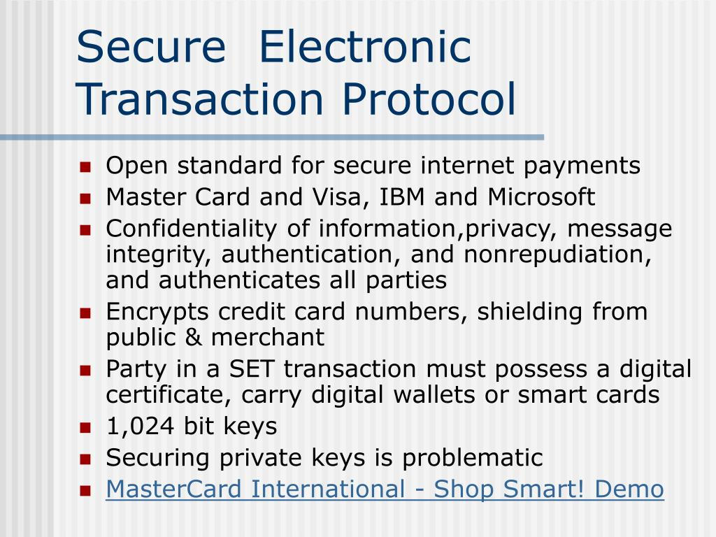 Secure  Electronic Transaction Protocol