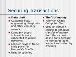 securing transactions