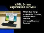 magic screen magnification software