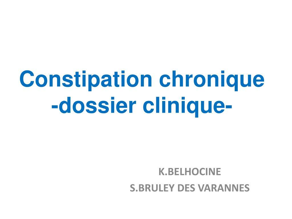 constipation chronique dossier clinique l.