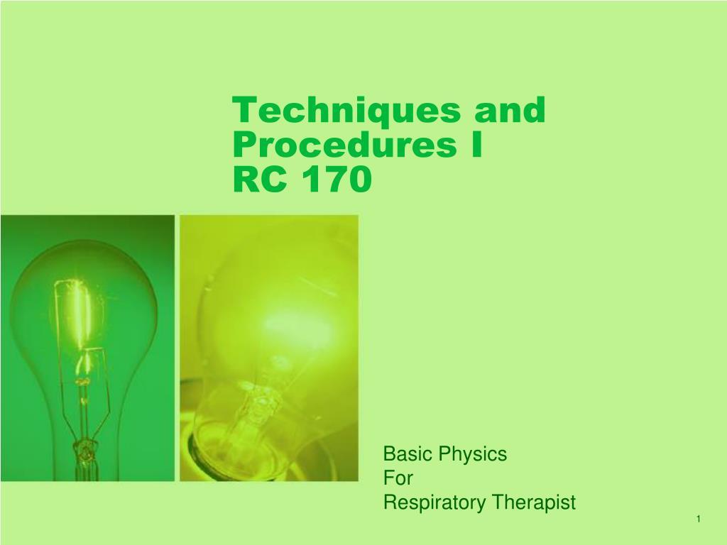 techniques and procedures i rc 170 l.