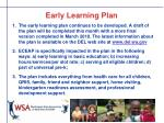 early learning plan