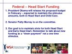 federal head start funding