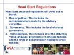 head start regulations