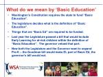 what do we mean by basic education