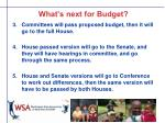 what s next for budget5