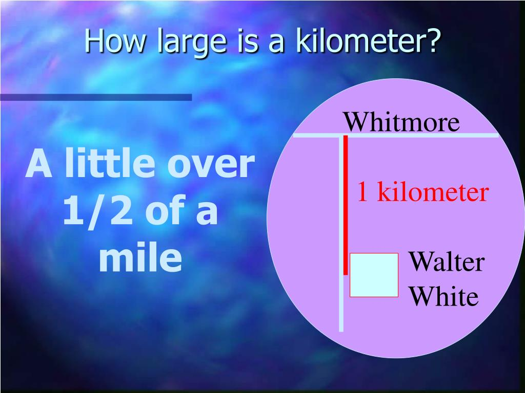 How large is a kilometer?