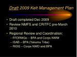 draft 2009 kelt management plan