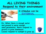 all living things respond to their environment23