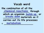 vocab word