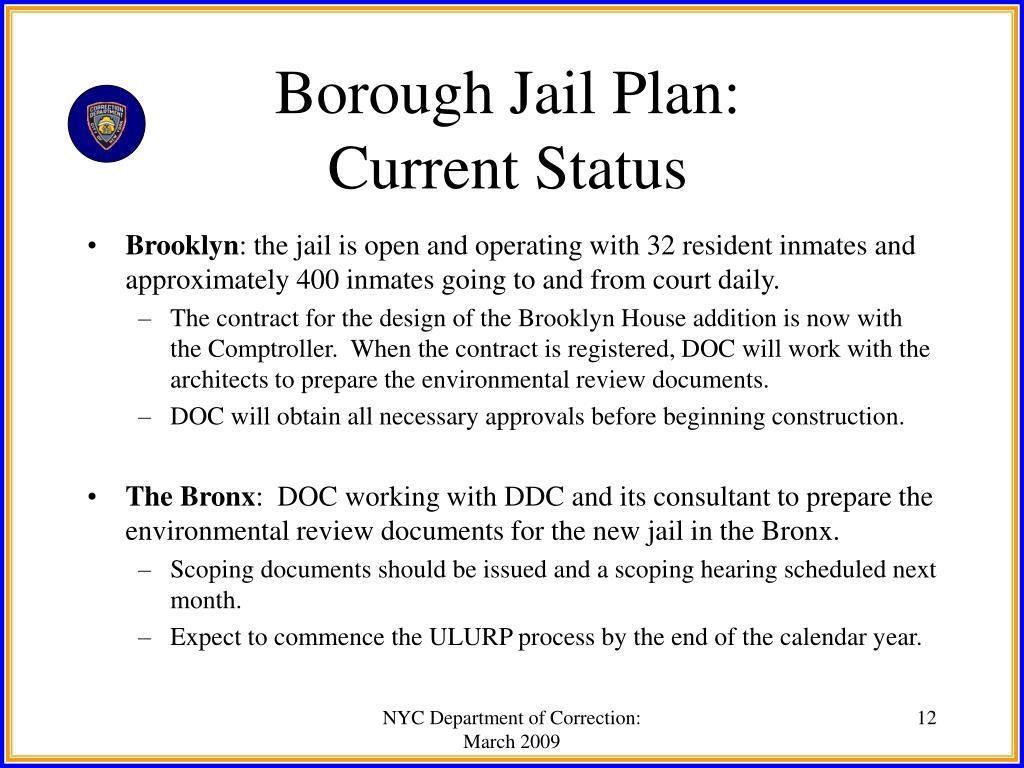 Borough Jail Plan: