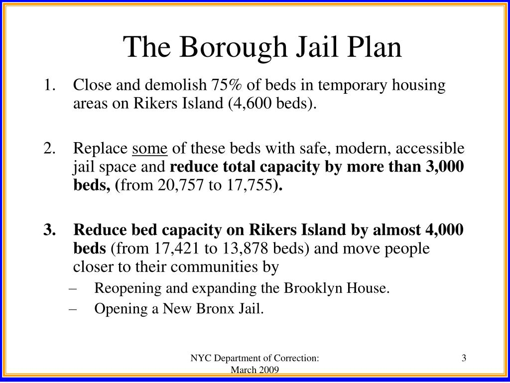 The Borough Jail Plan