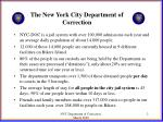 the new york city department of correction