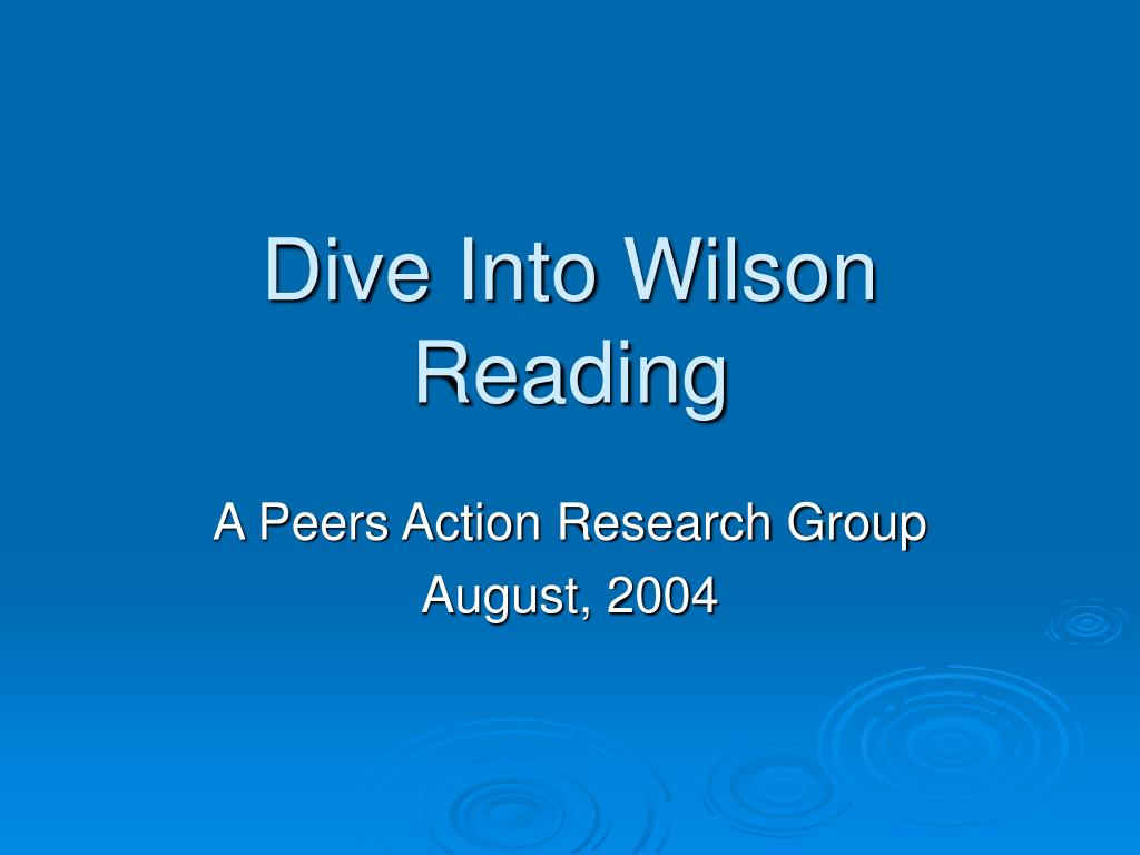 dive into wilson reading l.
