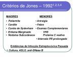 crit rios de jones 1992 1 2 3 4