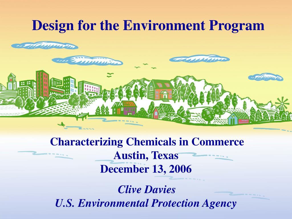 design for the environment program l.