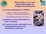 dfe alternatives assessment flame retardants in printed circuit boards10