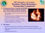dfe alternatives assessment furniture flame retardancy partnership completed