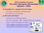 dfe formulator program the safer detergents stewardship initiative sdsi