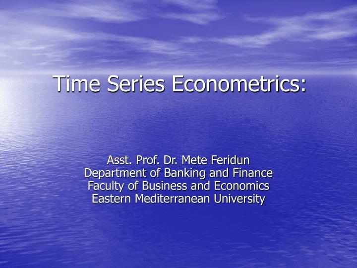 time series econometrics n.