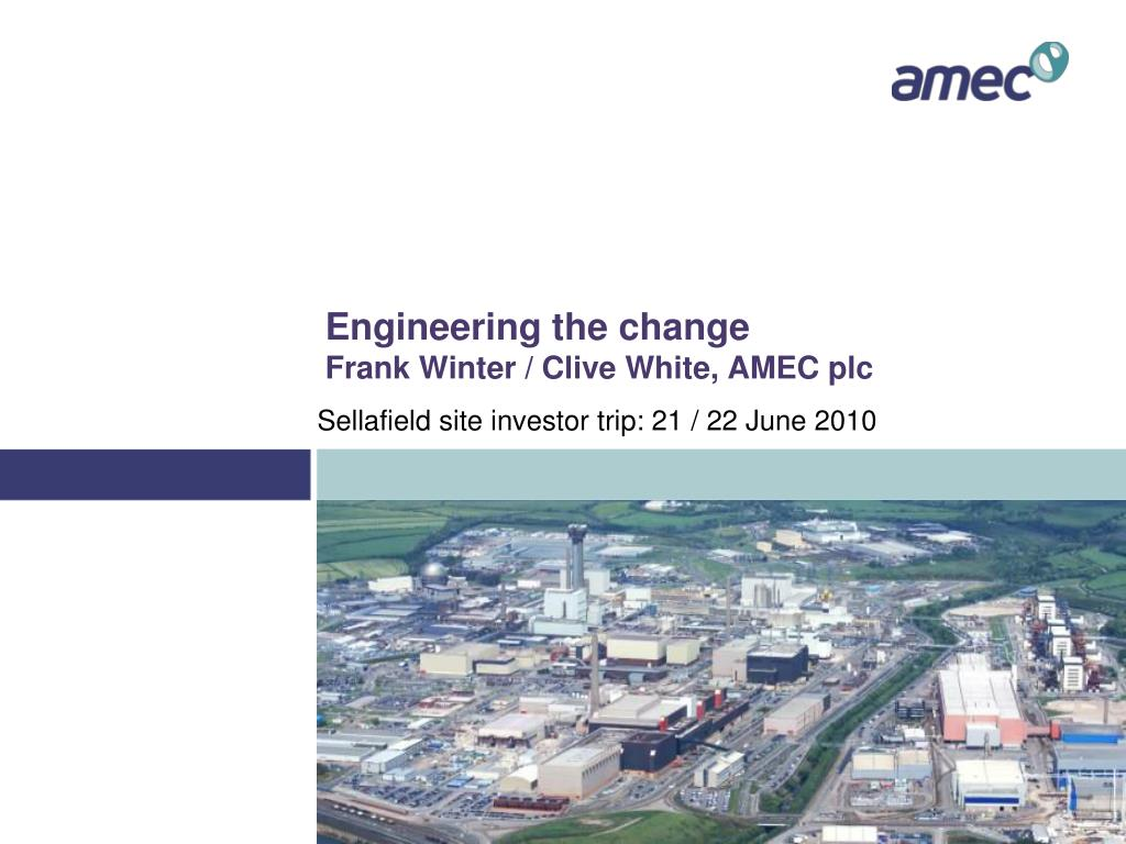 engineering the change frank winter clive white amec plc l.