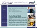 nmp s performance every measure improved in first 18 months