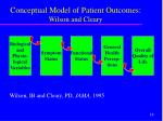 conceptual model of patient outcomes wilson and cleary