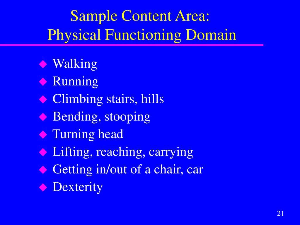 Sample Content Area:
