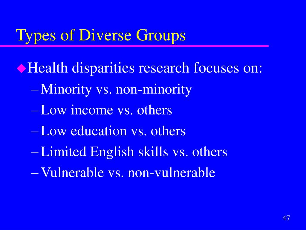 Types of Diverse Groups