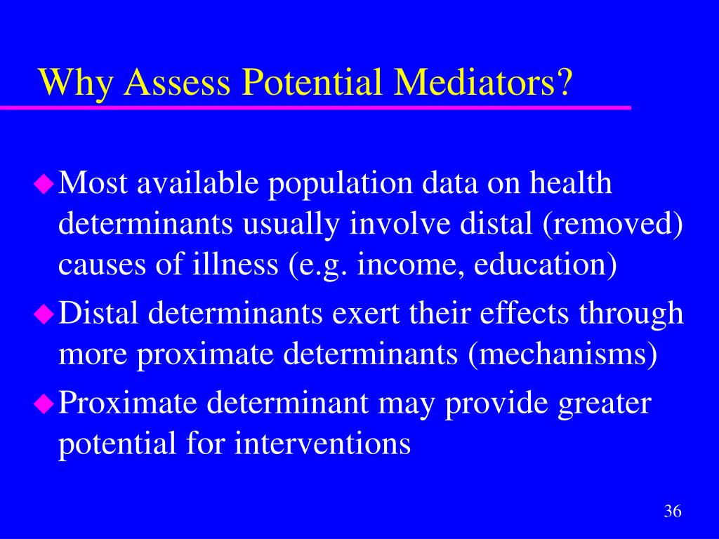 Why Assess Potential Mediators?