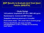 b np r esults to e valuate a nd t reat h eart failure breath