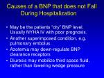 causes of a bnp that does not fall during hospitalization