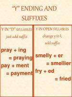 y ending and suffixes