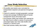 case study selection
