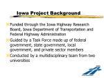 iowa project background