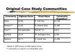 original case study communities
