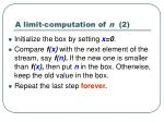 a limit computation of n 2