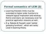 formal semantics of lcm 2