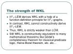 the strength of wkl