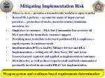 mitigating implementation risk