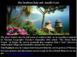 the southern italy and amalfi coast